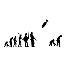 Banksy – Evolution Stencil