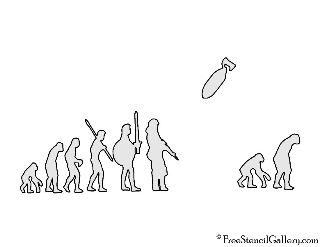 Banksy - Evolution Stencil