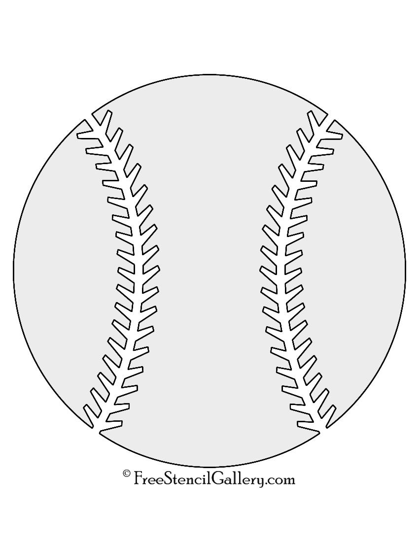 Baseball stencil free gallery