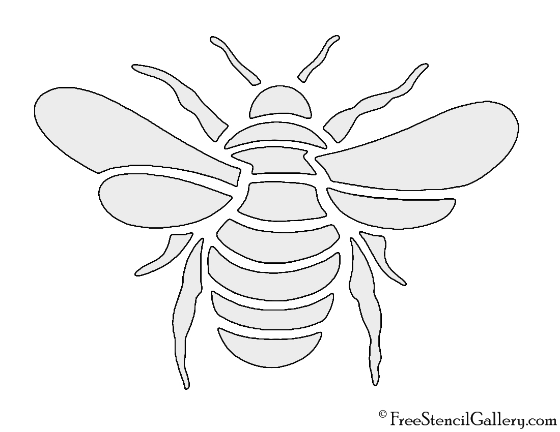 Bee Stencil