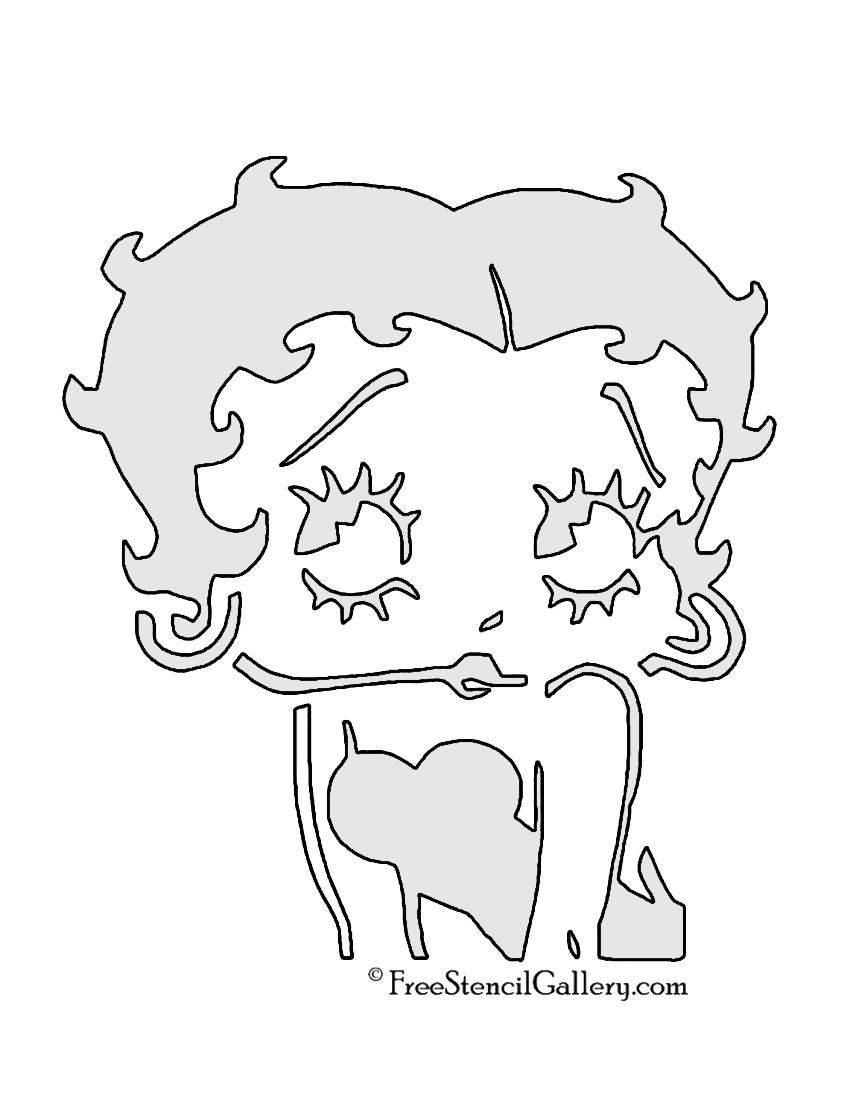 Betty Boop Stencil