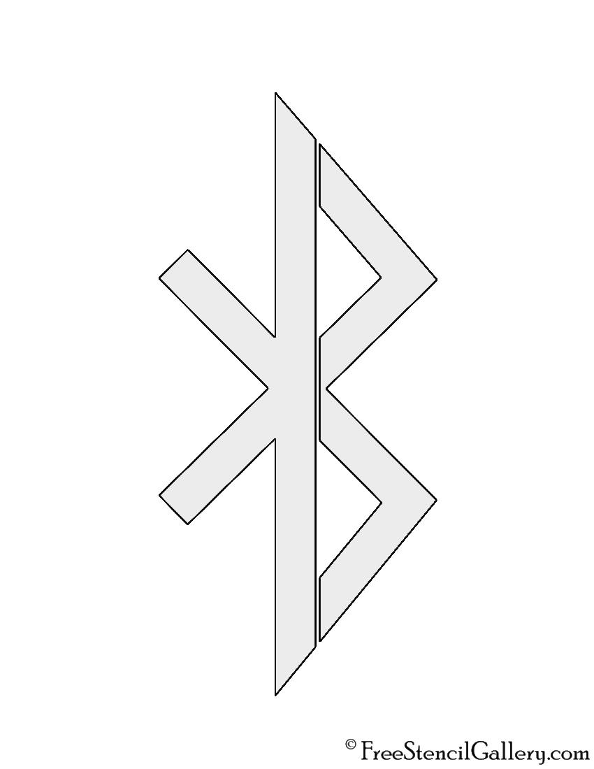 Bluetooth Symbol Stencil