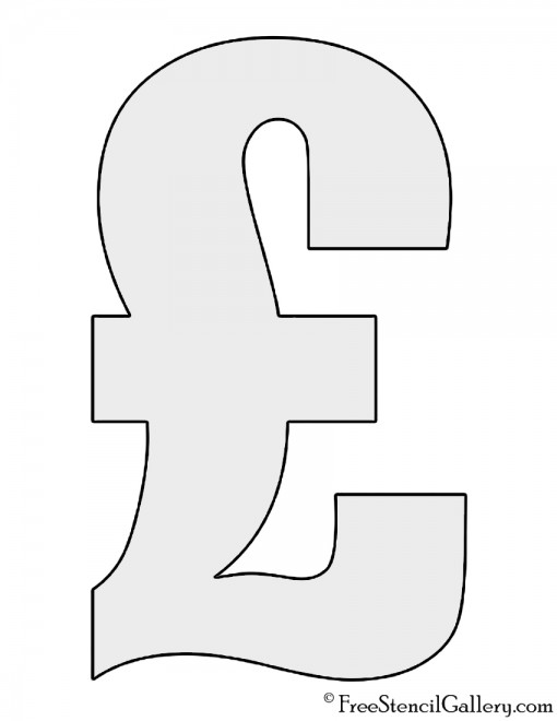 British Pound Sign Stencil