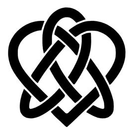 Celtic Knot – Heart Stencil