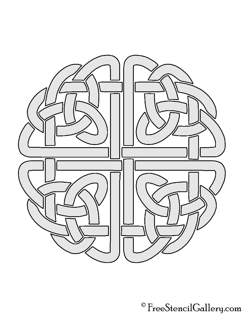 image regarding Printable Celtic Stencils titled Celtic Knot Stencil Absolutely free Stencil Gallery