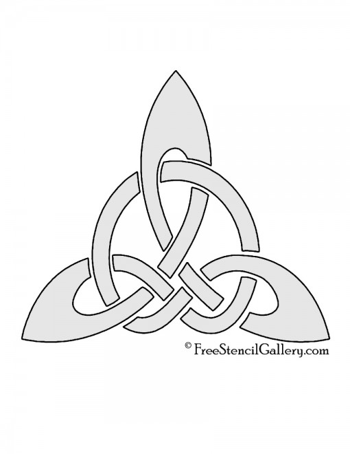 Celtic Knot - Triangle Stencil