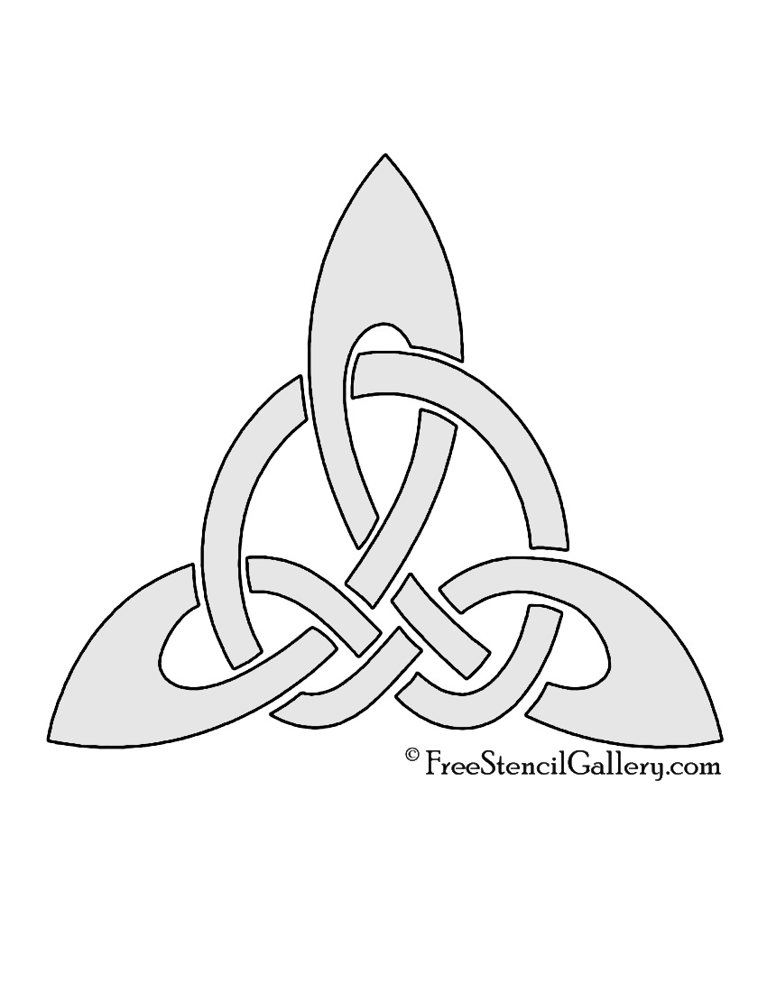 how to draw celtic knot triangle