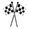 Checkered Flags Stencil