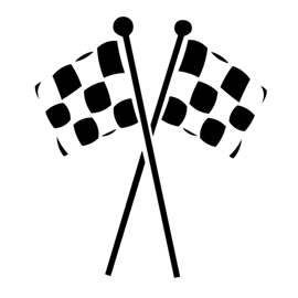 Checkered Flags Stencil