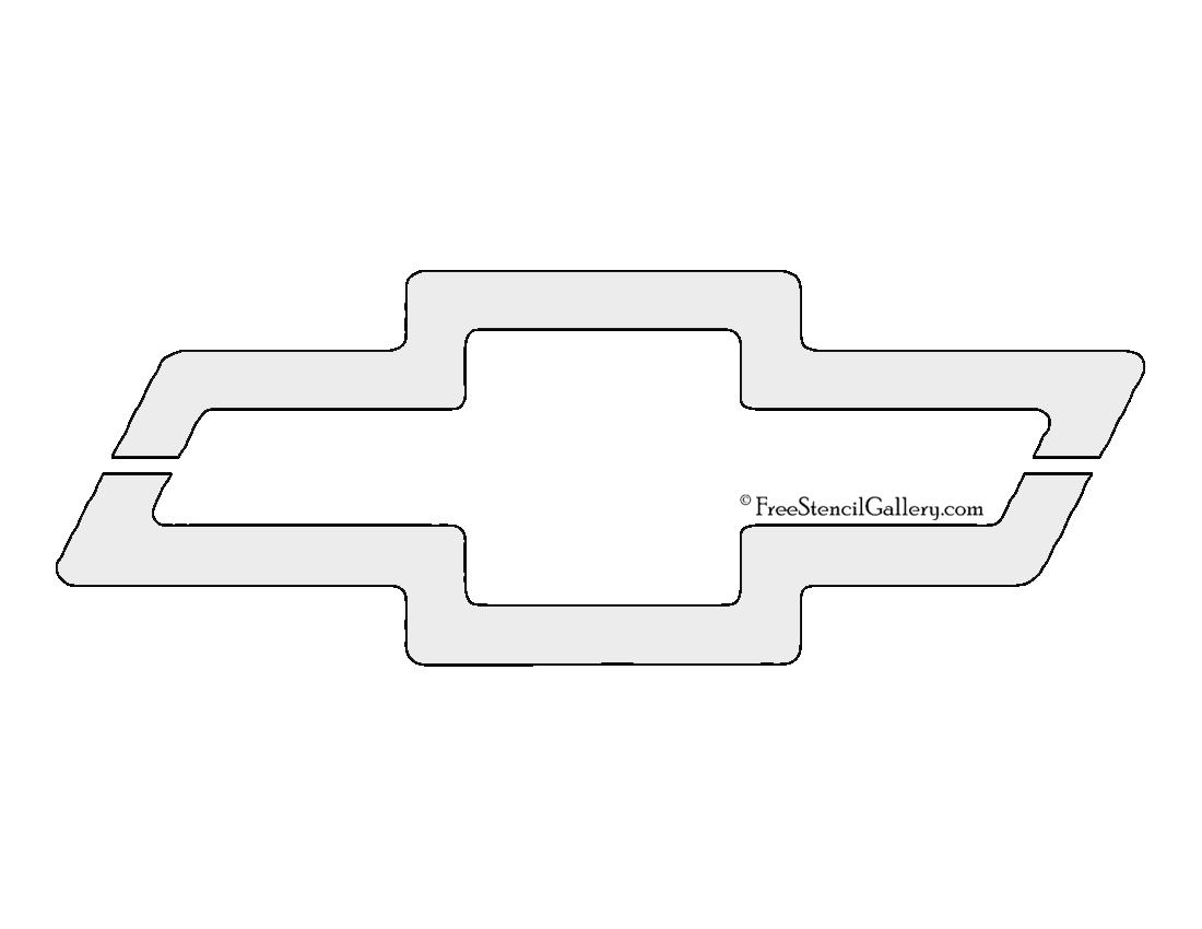 chevrolet logo stencil
