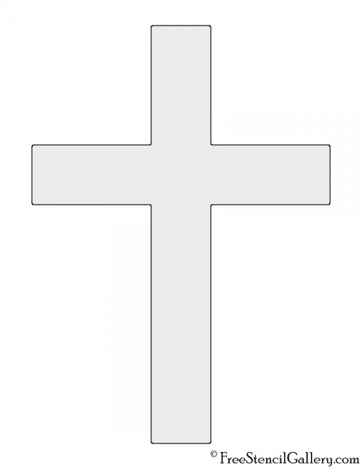 Christian Cross Stencil