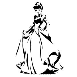Cinderella Stencil