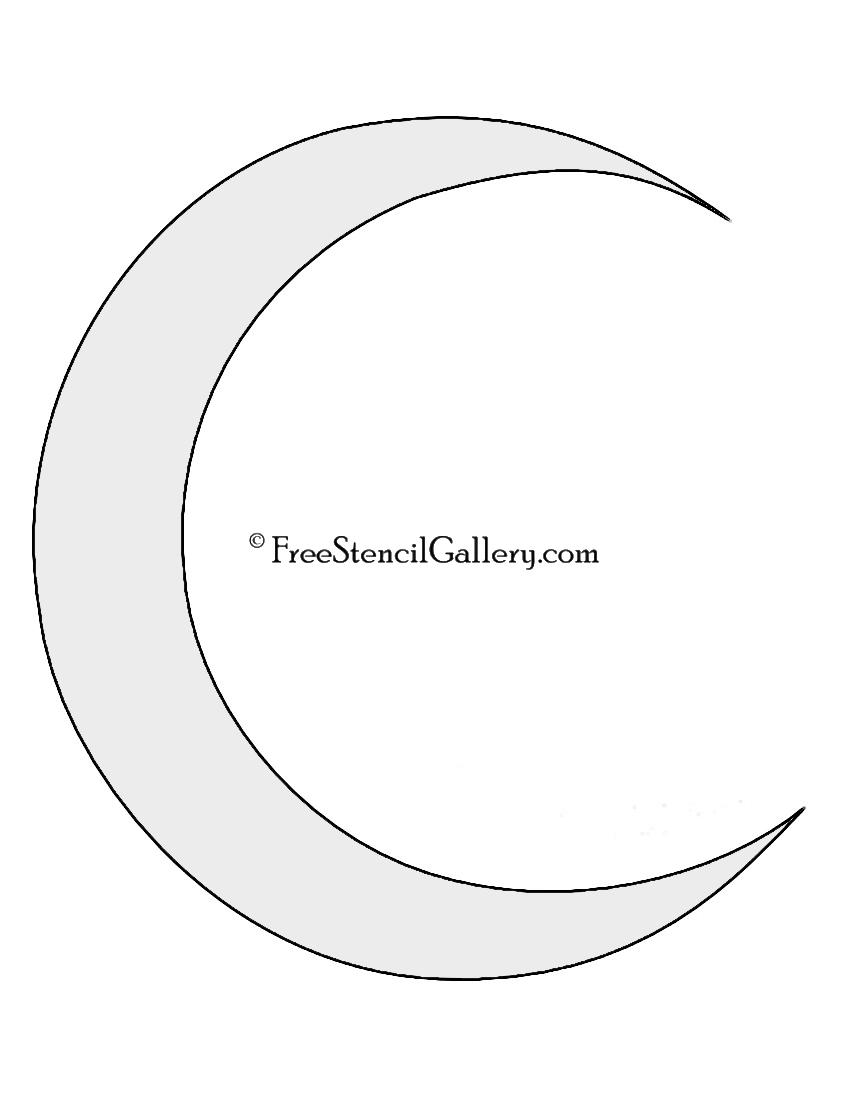 Crescent moon stencil free gallery