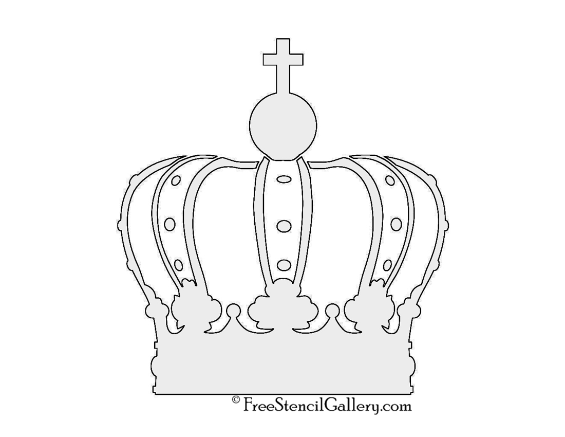 photograph relating to Crown Stencil Printable named Crown Stencil Totally free Stencil Gallery