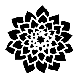 Dahlia Stencil