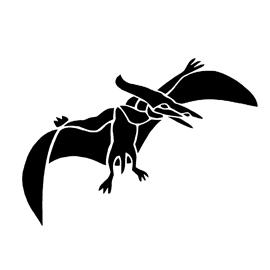 Dinosaur – Pterodactyl Stencil