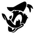 Donald Duck Stencil