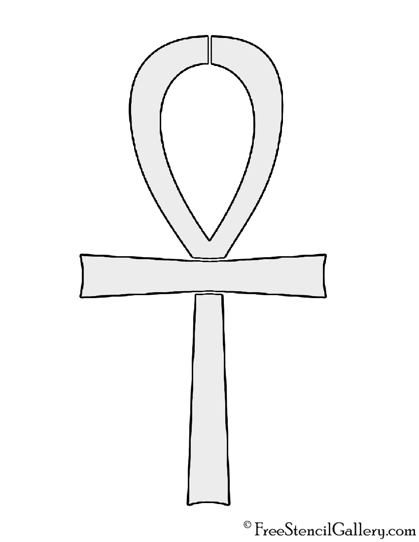 Egyptian ankh stencil free gallery