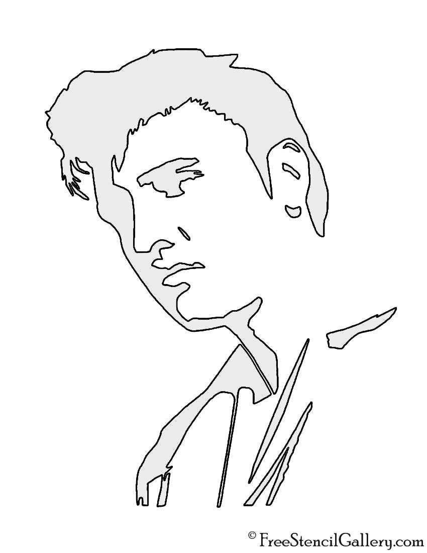 Elvis Presley Stencil