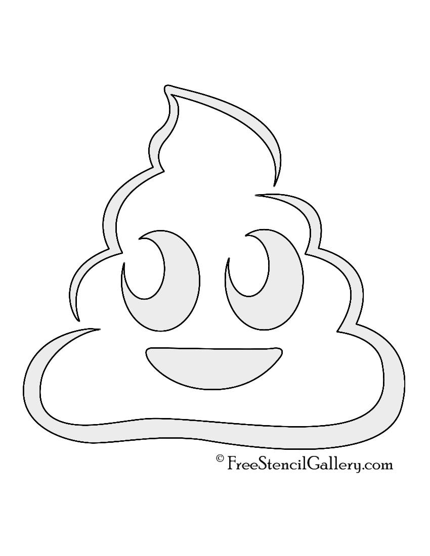 Emoji - Poop Stencil