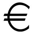 Euro Symbol Stencil