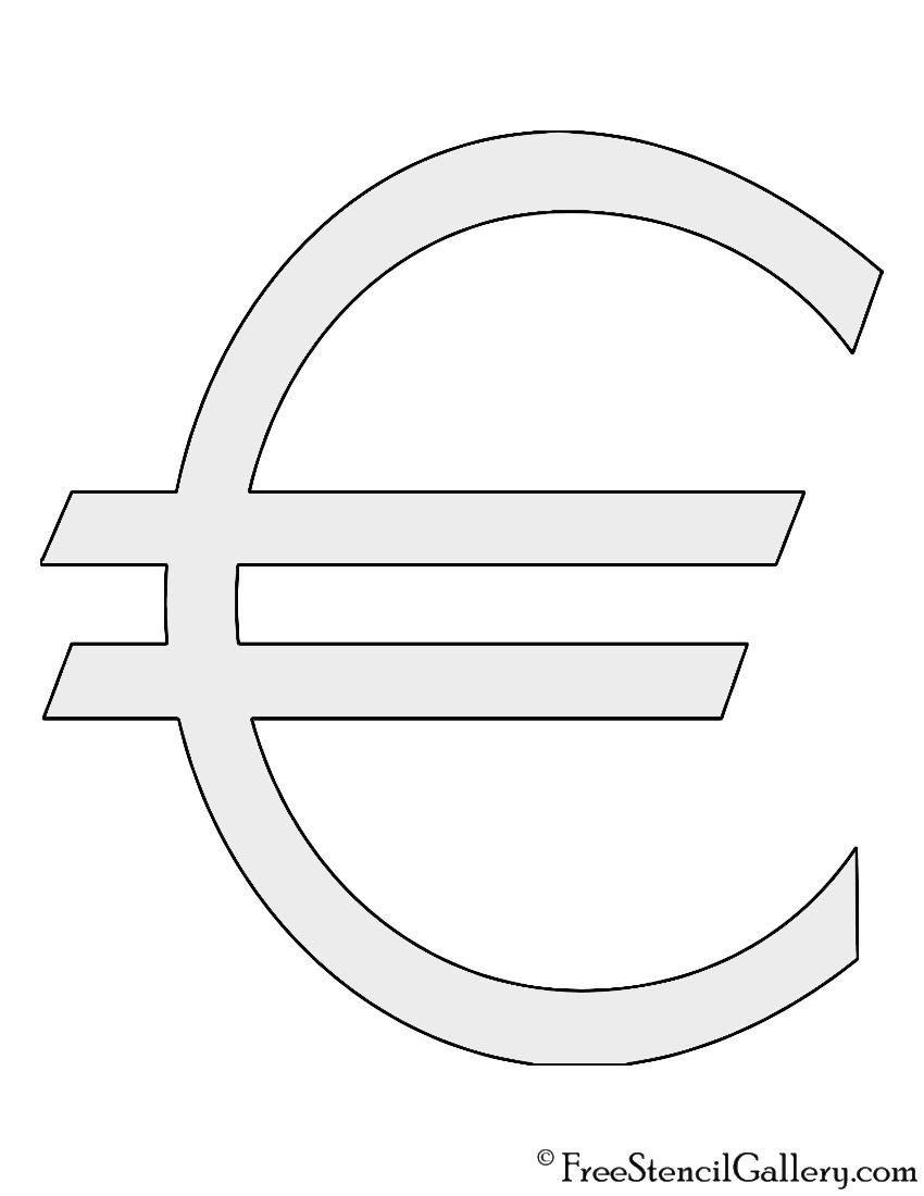 Euro Symbol Stencil Free Stencil Gallery