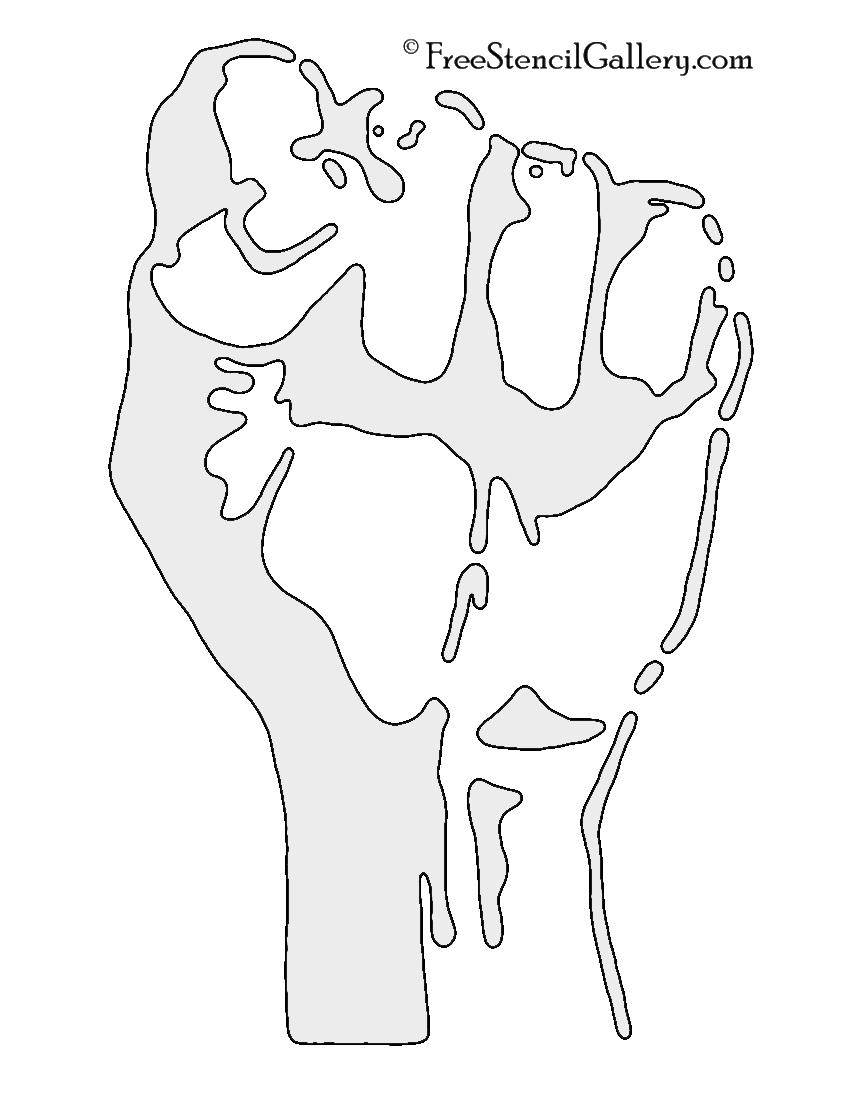 Fist Stencil