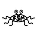 Flying Spaghetti Monster Stencil