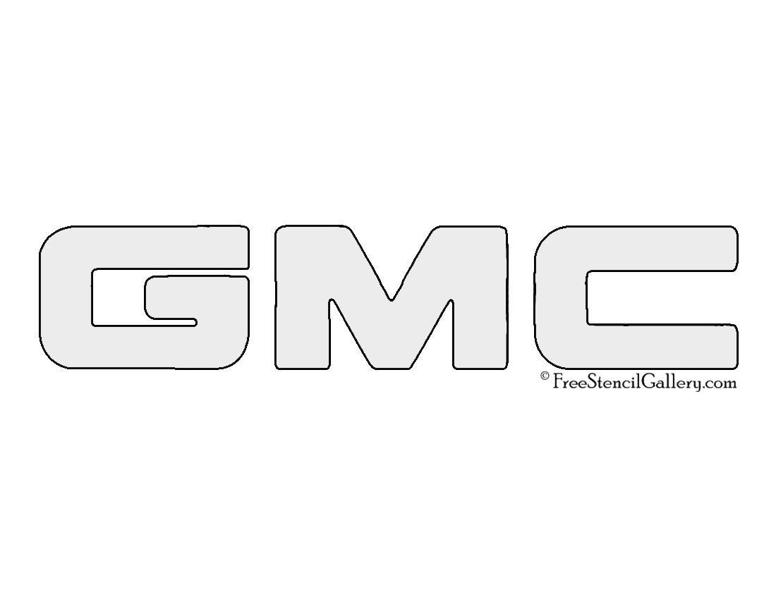 Gmc Logo Stencil Free Stencil Gallery