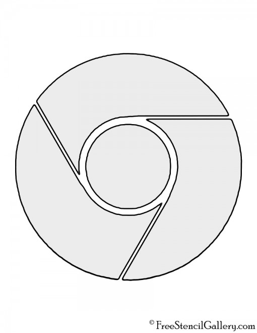Google Chrome Logo Stencil