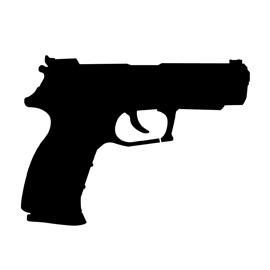 Handgun 02 Stencil