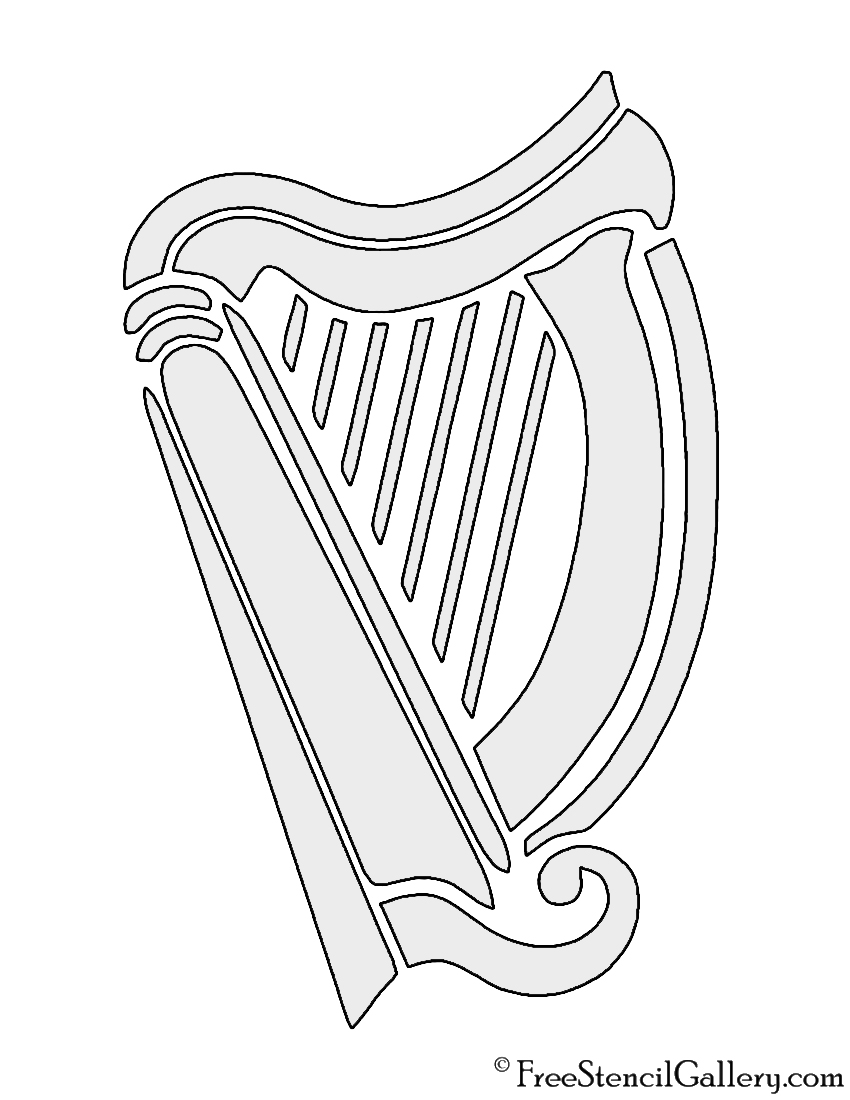 Harp Stencil | Free Stencil Gallery