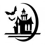 Haunted House Stencil