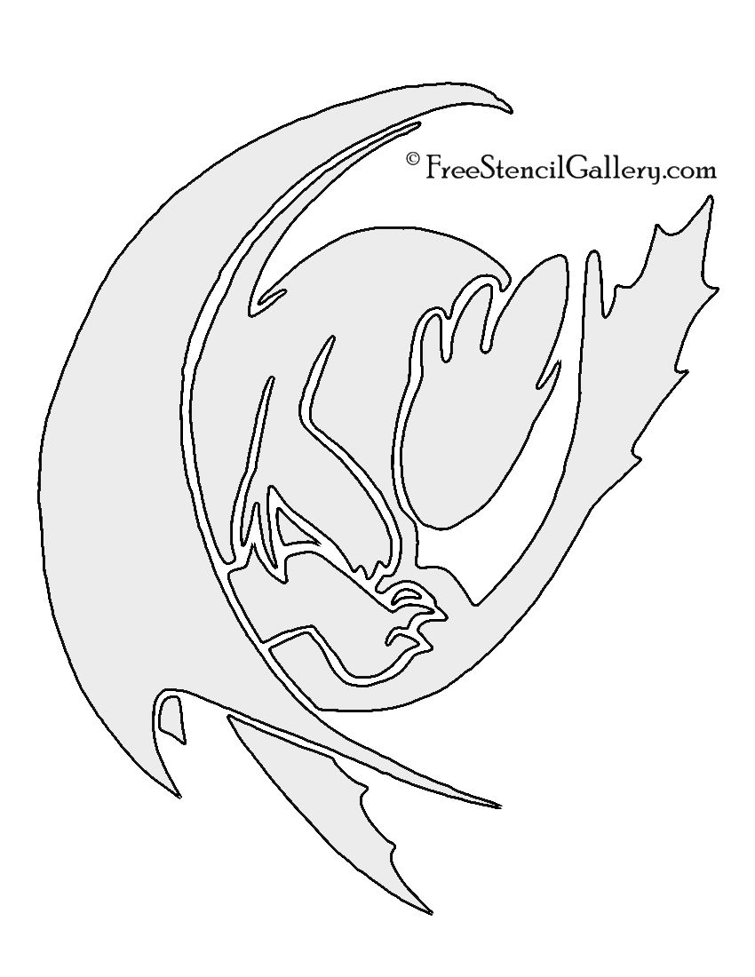 How to train your dragon toothless stencil free
