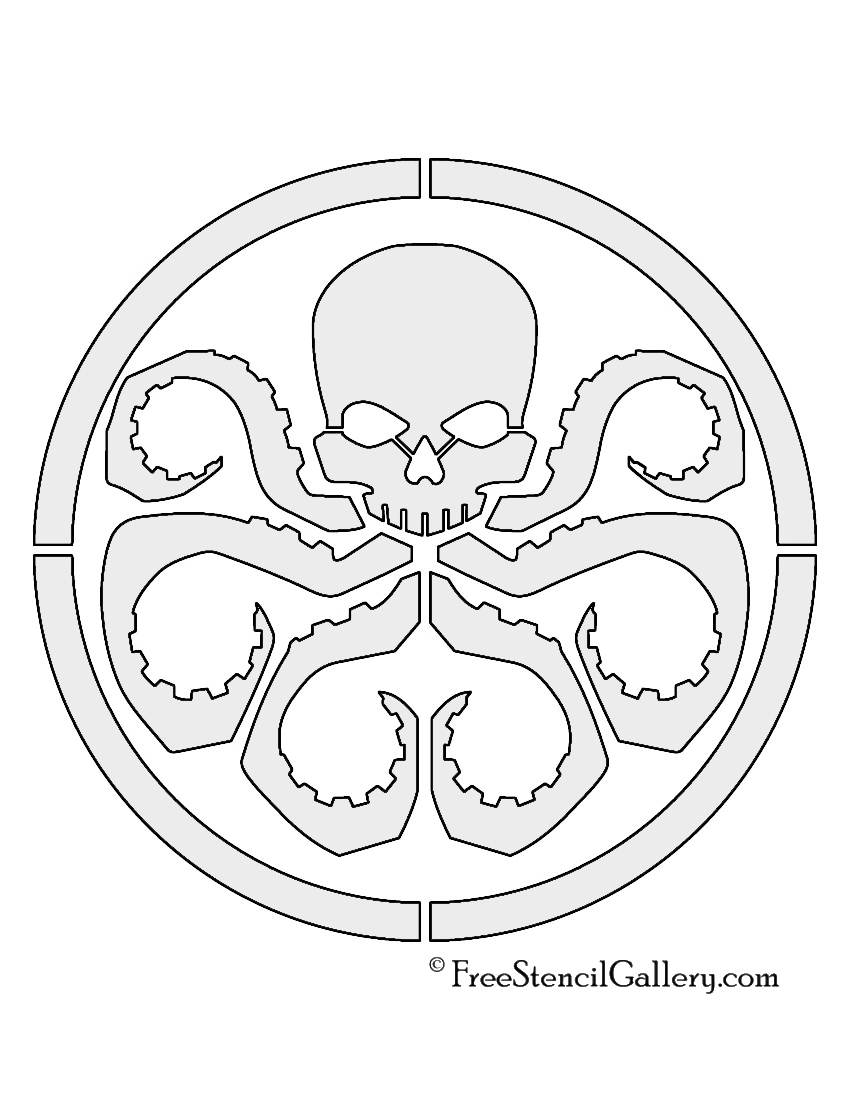 Hydra Logo Stencil Free Stencil Gallery