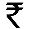 Indian Rupee Symbol Stencil