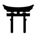 Japanese Shinto Torii Stencil