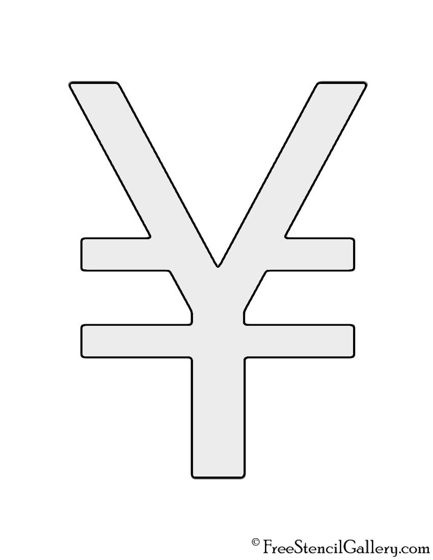 Japanese Yen Symbol Stencil