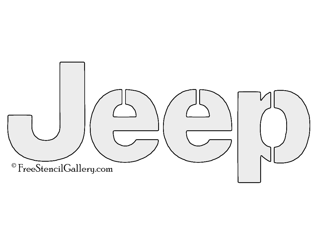 Jeep Logo Stencil
