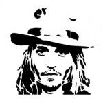 Johnny Depp Stencil