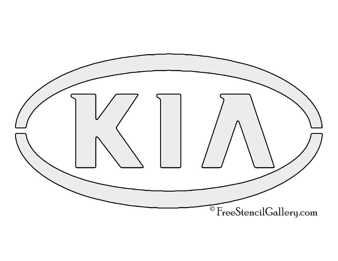 kia logo stencil
