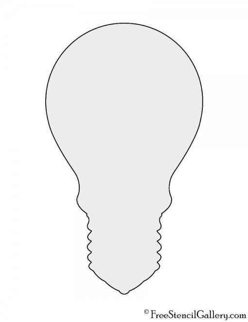 Light Bulb Silhouette Stencil