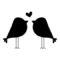Love Birds Stencil