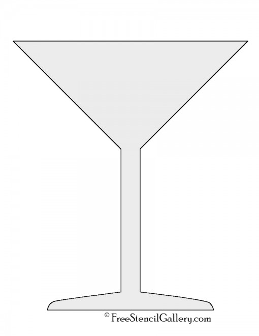 Martini Glass Stencil