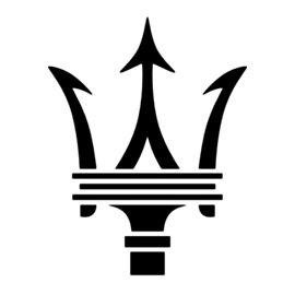 Maserati Logo Stencil