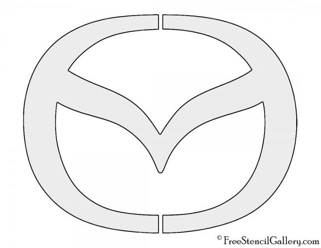 Mazda Logo Free Stencil Gallery