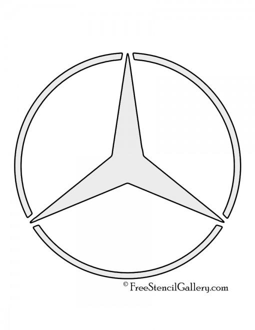 Mercedes Benz Logo Stencil