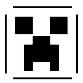 Minecraft - Creeper Stencil