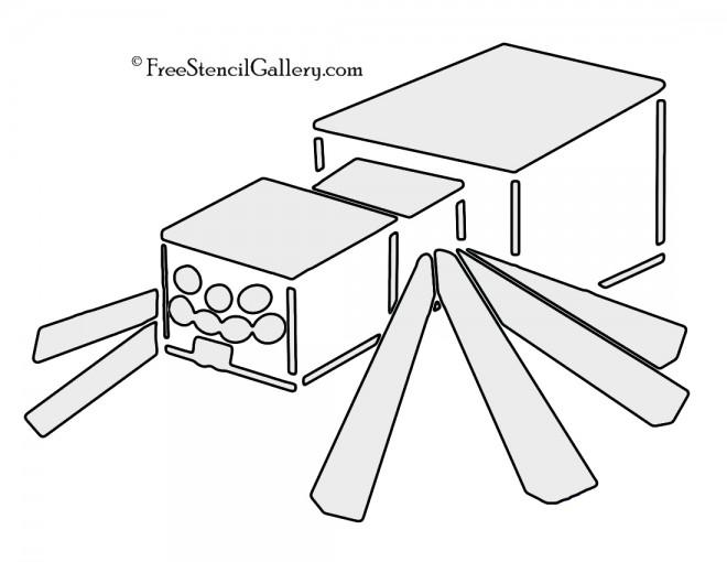 Minecraft - Spider Stencil