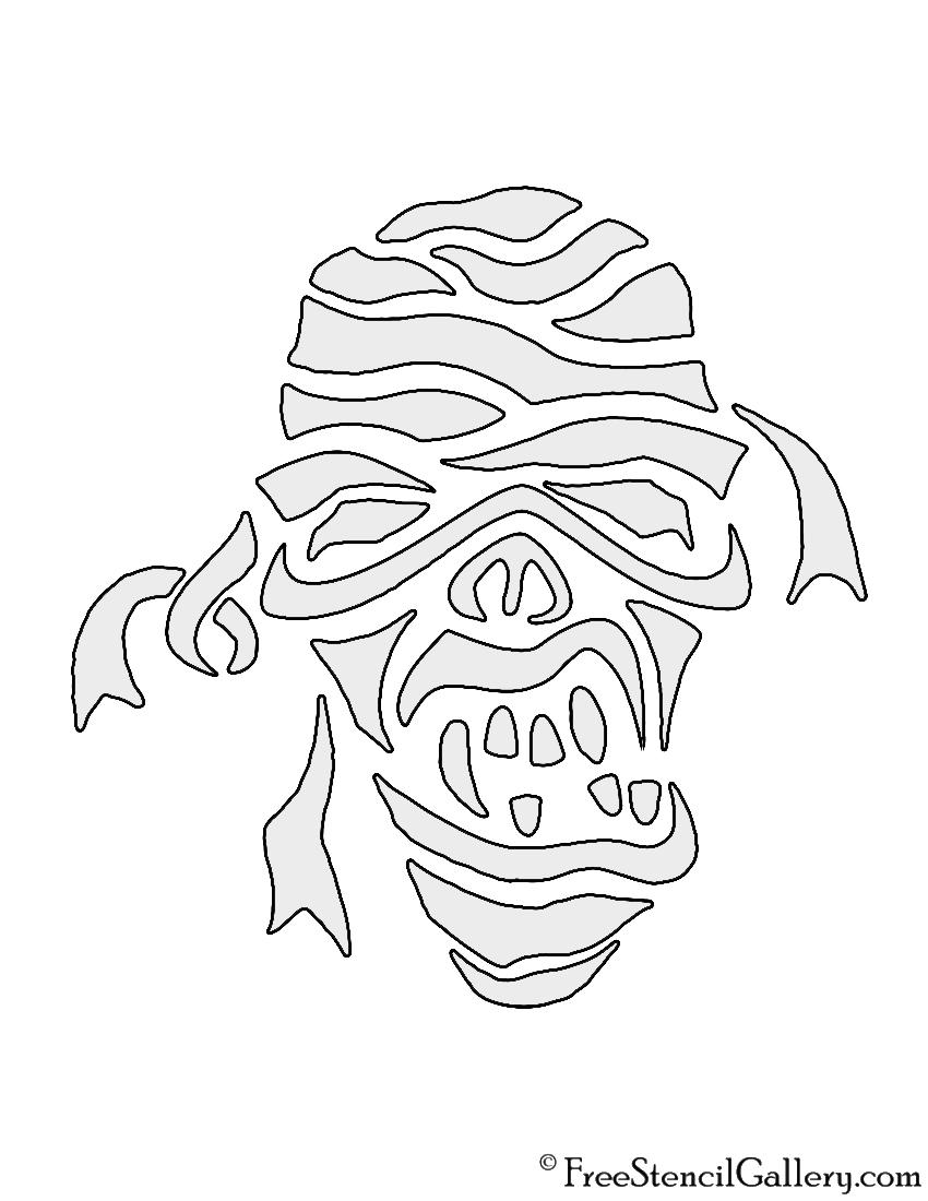 Mummy Stencil